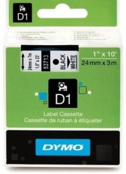 Лента Dymo D1 [S0720930] для принтеров серии Label Manager (черный на белом, 24 мм, длина 7 м)