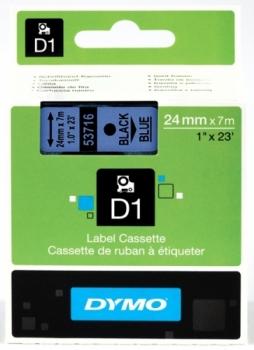 Лента Dymo D1 [S0720960] для принтеров серии Label Manager (черный на синем, 24 мм, длина 7 м)