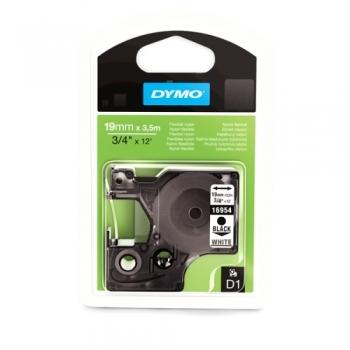 Лента Dymo D1 [S0718050] для принтеров серии Label Manager (нейлон, черный на белом, 19 мм, длина 3.5 м)