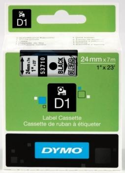 Лента Dymo D1 [S0720920] для принтеров серии Label Manager (черный на прозрачном, 24 мм, длина 7 м)