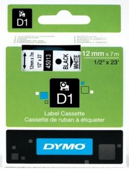 Лента Dymo D1 [S0720530] для принтеров серии Label Manager (черный на белом, 12 мм, длина 7 м)