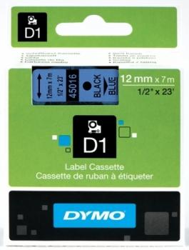 Лента Dymo D1 [S0720560] для принтеров серии Label Manager (черный на голубом, 12 мм, длина 7 м)