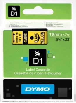 Лента Dymo D1 [S0720880] для принтеров серии Label Manager (черный на желтом, 19 мм, длина 7 м)