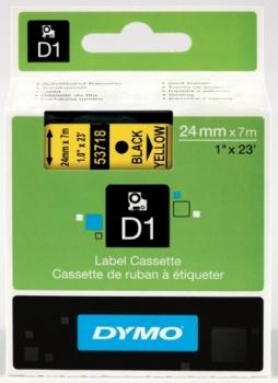 Лента Dymo D1 [S0720980] для принтеров серии Label Manager (черный на желтом, 24 мм, длина 7 м)