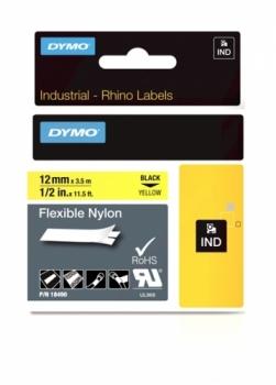 Нейлоновая лента 12ммx3.5м (черный на желтом)