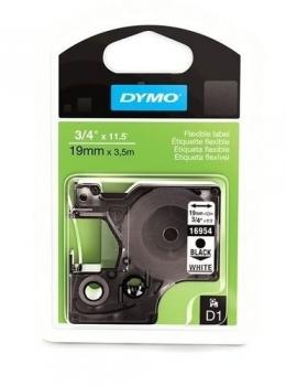 Лента Dymo D1 [S0718070] для принтеров серии Label Manager (полиэстер, черный на белом, 19 мм, длина 5.5 м)