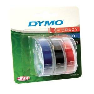 Ленты Dymo [S0847750] для принтера Omega (черная, синяя, красная, 9 мм, длина 3 м, 3 ленты/упк)
