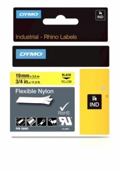 Нейлоновая лента 19ммx3.5м (черный на желтом)