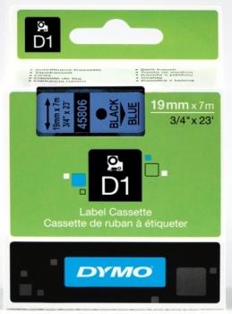 Лента Dymo D1 [S0720860] для принтеров серии Label Manager (черный на синем, 19 мм, длина 7 м)
