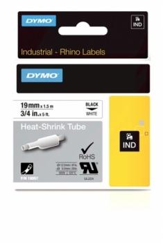 Картридж с термоусадочной трубкой 19ммx1.5м (черный на белом)