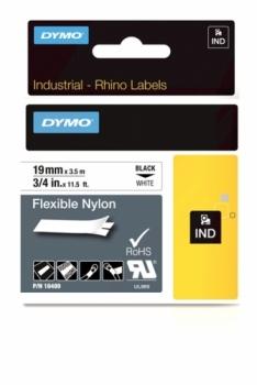 Нейлоновая лента 19ммx3.5м (черный на белом)